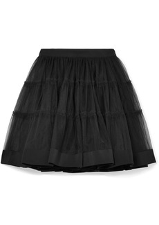 Moschino Silk Satin-trimmed Tulle Mini Skirt