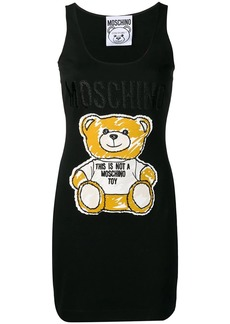 Moschino Sketch Bear tank dress