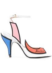 Moschino Slice goatskin high sandals