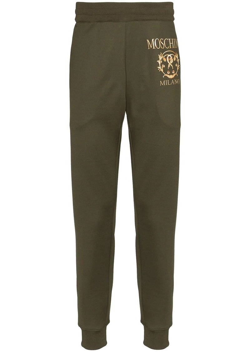 Moschino slim-fit logo track trousers