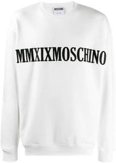 Moschino slogan embroidered sweatshirt