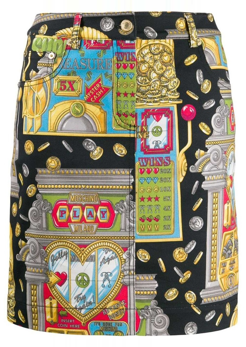 Moschino slot machine skirt