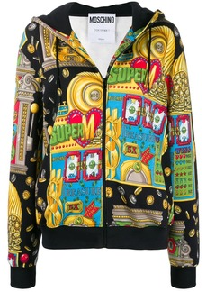 Moschino Slot Machine zipped hoodie