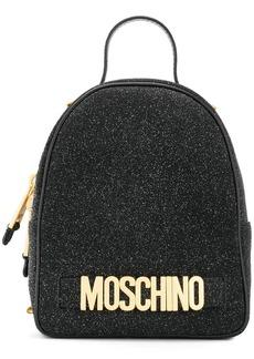 Moschino small glitter backpack