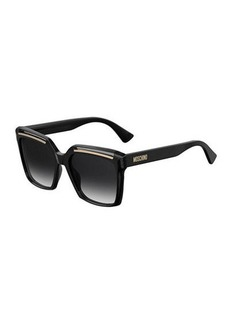 Moschino Square Cutout Acetate Sunglasses