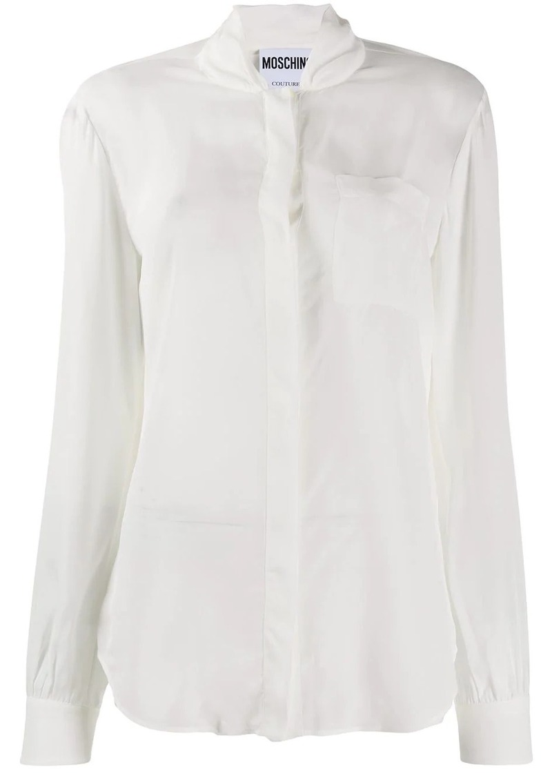 Moschino stand collar blouse