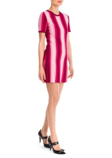 Moschino Striped Pleated Hem Dress