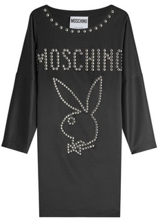 Moschino Stud Embellished Jersey Dress