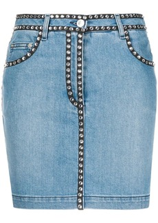 Moschino stud-trim denim skirt