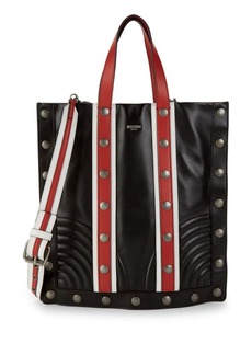 Moschino Studded Leather Top Handle Bag