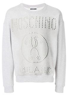 Moschino studded logo sweatshirt