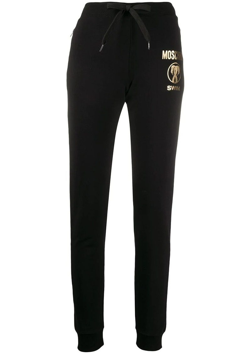 Moschino Swim logo track pants