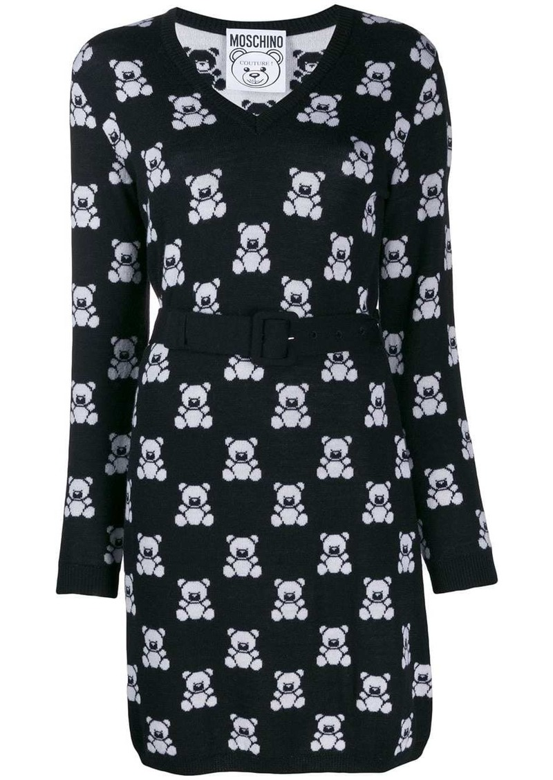 Moschino Teddy Bear fitted dress