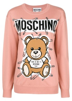 Moschino teddy bear intarsia sweater