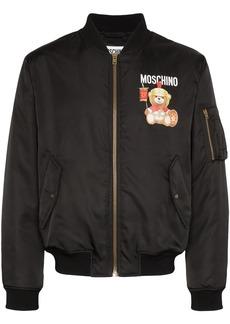 Moschino Teddy Bear logo bomber jacket