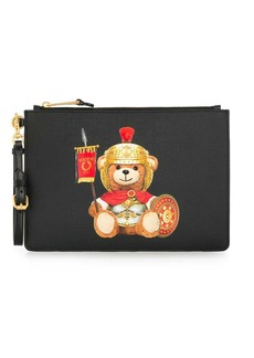 Moschino Teddy Bear logo clutch bag