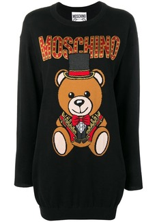 Moschino teddy bear logo sweater dress