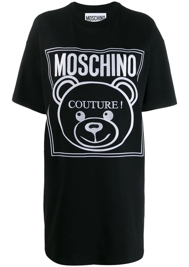 Moschino teddy bear logo T-shirt dress
