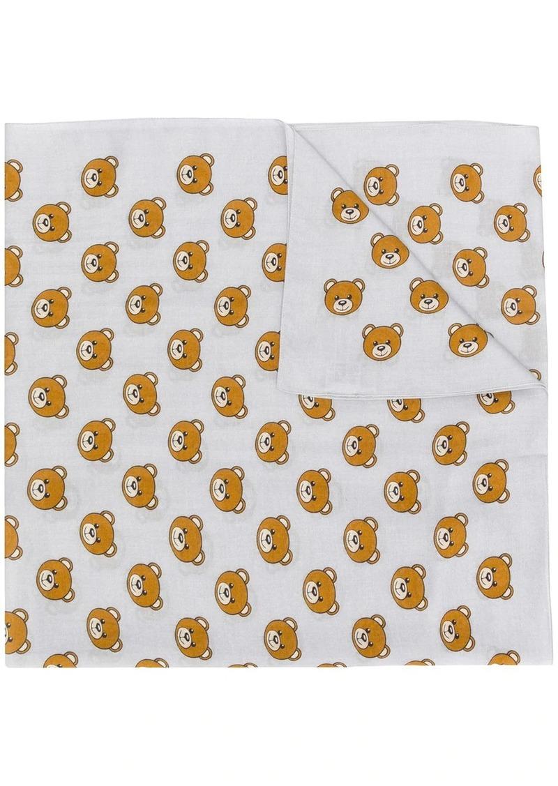 Moschino teddy bear-print scarf