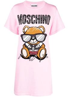 Moschino Teddy Bear intarsia T-shirt dress