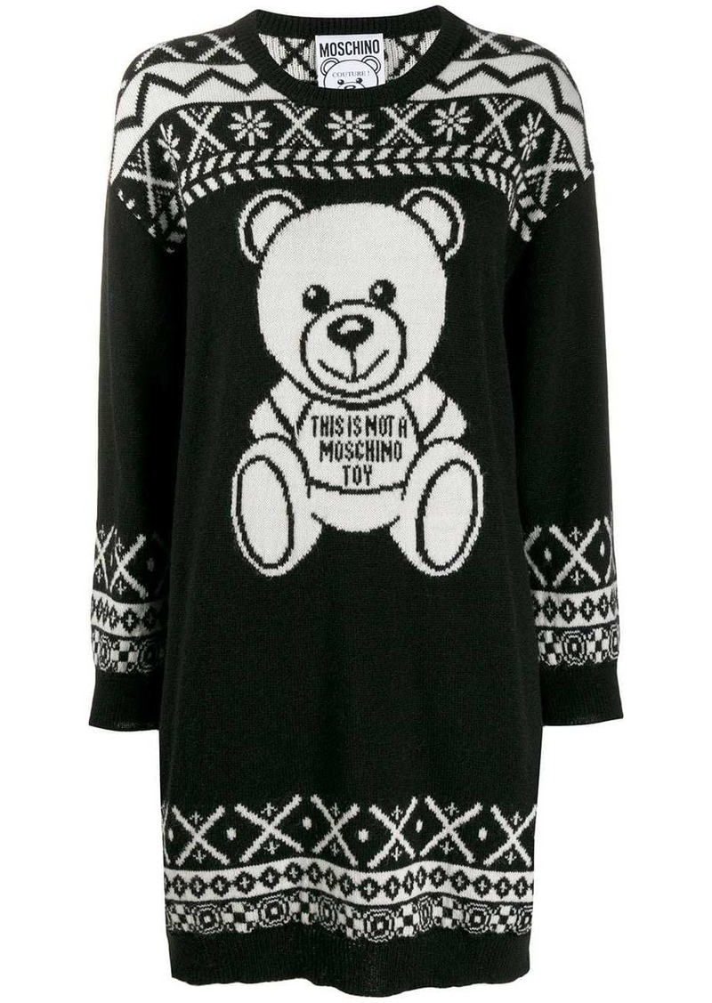 Moschino Teddy Bear sweater dress