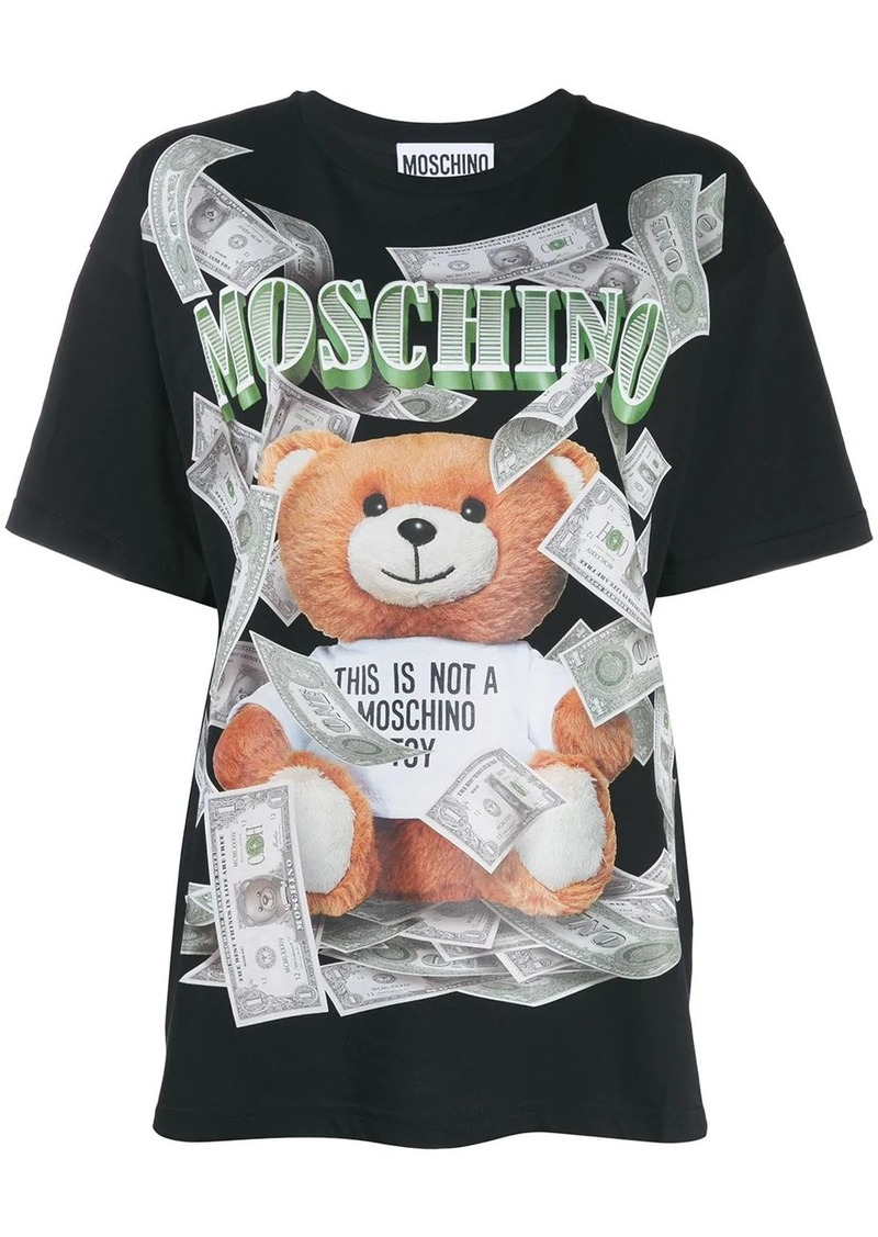 Moschino Teddy dollar logo T-shirt