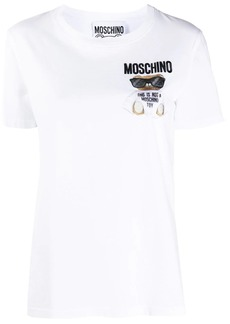 Moschino Teddy embroidered logo T-shirt