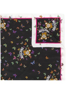 Moschino teddy graphic scarf