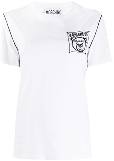 Moschino Teddy-label embroidered T-shirt