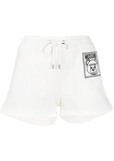 Moschino teddy label running shorts