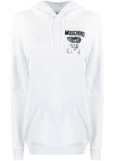 Moschino Teddy logo embroidered hoodie