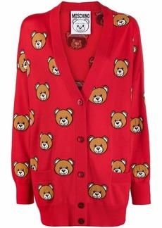Moschino Teddy-motif virgin wool cardigan