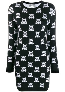 Moschino Teddy print jumper dress