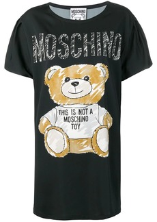 Moschino teddy print T-shirt dress
