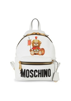 Moschino Textured Logo Backpack