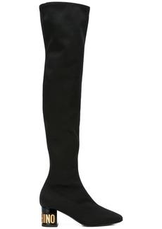 Moschino thigh high neoprene boots