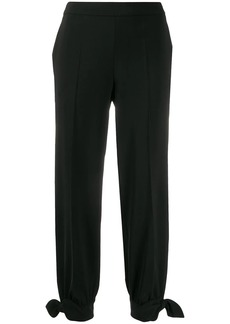 Moschino tied ankle trousers