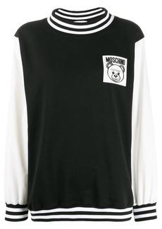 Moschino toy bear logo patch sweatshirt