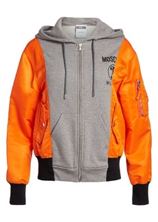Moschino Two-Tone Hooded Jacket