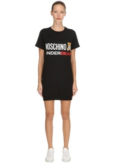 Moschino Underbear Cotton Sweatshirt Dress