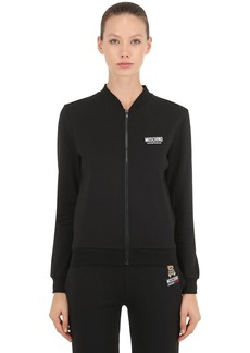 Moschino Underbear Zip-up Cotton Sweatshirt