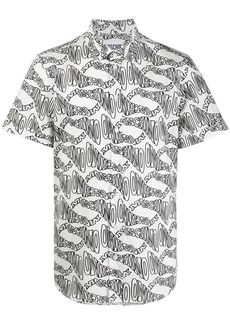 Moschino warped logo pattern shirt