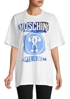 Moschino Watercolor Logo Oversized Cotton T-Shirt