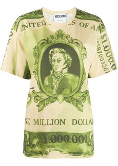 Moschino Watercolour Money print T-shirt