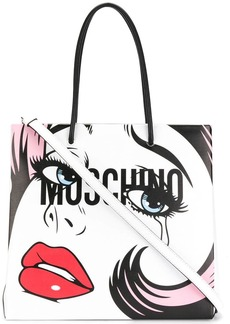 Moschino weeping print backpack