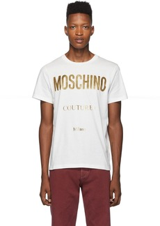 Moschino White & Gold 'Couture!' T-Shirt