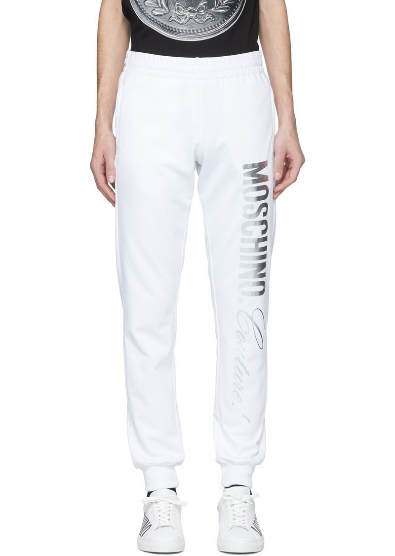 Moschino White 'Couture' Lounge Pants