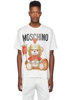 Moschino White Gladiator Teddy T-Shirt