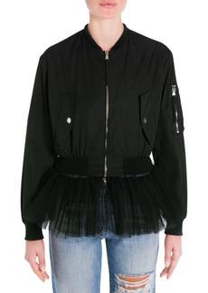 Moschino Zip-Front Bomber Jacket