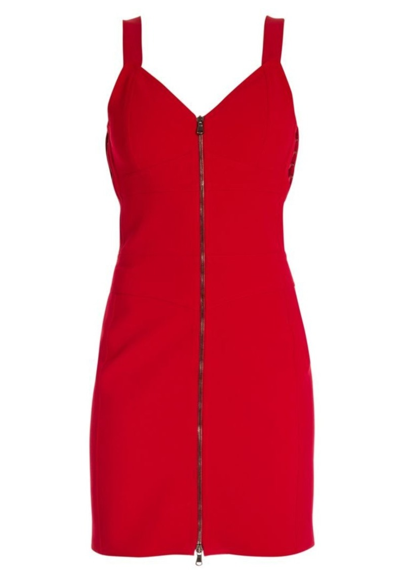 Moschino Zip Front Mini Dress